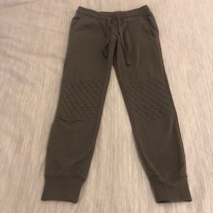 Army Green Sweatpants with Detailing